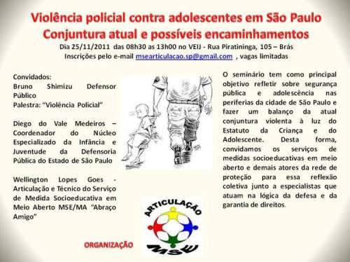 Seminário - violência policial
